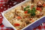 Rýžový nákyp s masem a rajčaty