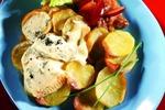 Pečené brambory s plísňovým sýrem