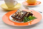 Ořechové řezy s čokoládovým krémem
