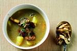 Bramborová polévka s liškami