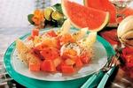 Melounový salát se šunkou