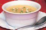 Zapečená cibulová polévka s houbami