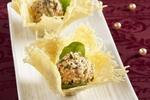 Košíčky se sýrovo-ananasovými pralinkami