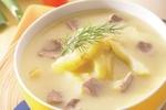 Letní polévka z kuřecích drůbků