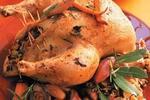 Kuře plněné zeleninovou rýží
