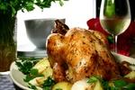 Máslové kuře s česnekem a rozmarýnem