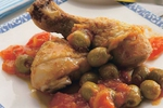 Kuřecí stehna s olivami