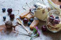 Lehké borůvkové tiramisu