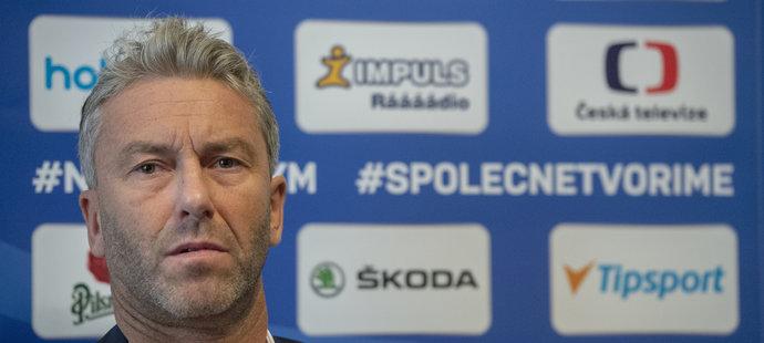 Generální manažer hokejové reprezentace Petr Nedvěd