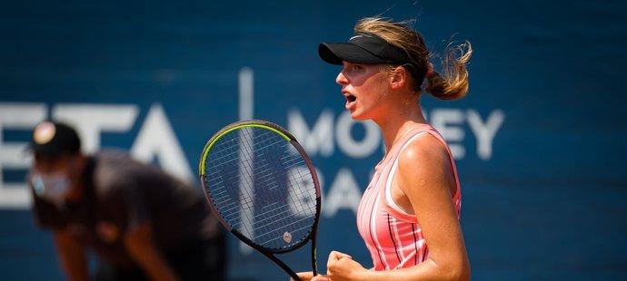 Patnáctiletá Linda Fruhvirtová, jedna z největších nadějí českého tenisu