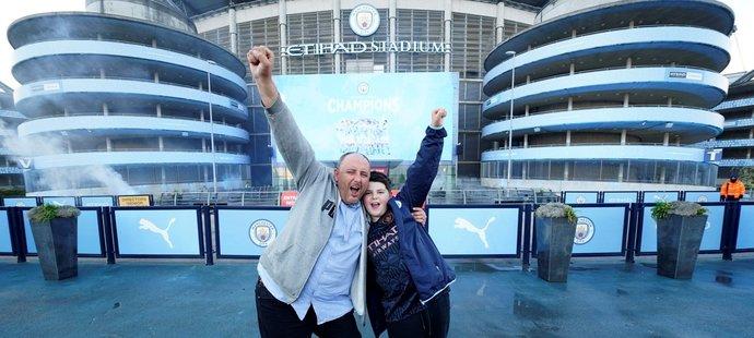 Manchester City slaví titul v Premier League