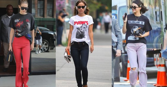 Zleva: Gigi Hadid, Olivia Wilde, Kendall Jenner