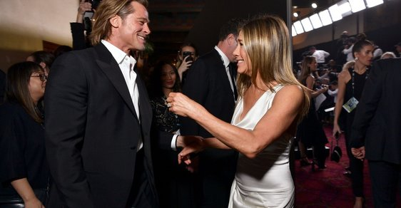 Brad Pitt a Jennifer Aniston na SAG Awards (2020)