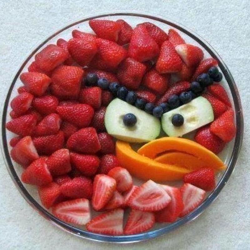 Jahodový talíř ala Angry Birds