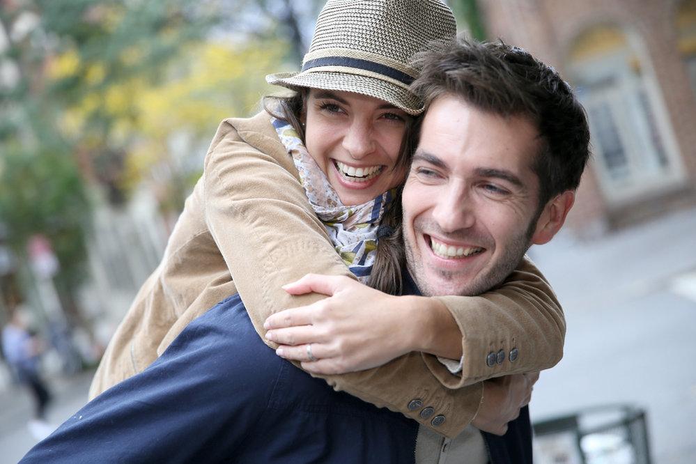 žena, muž, rande, láska, zamilovanost, radost