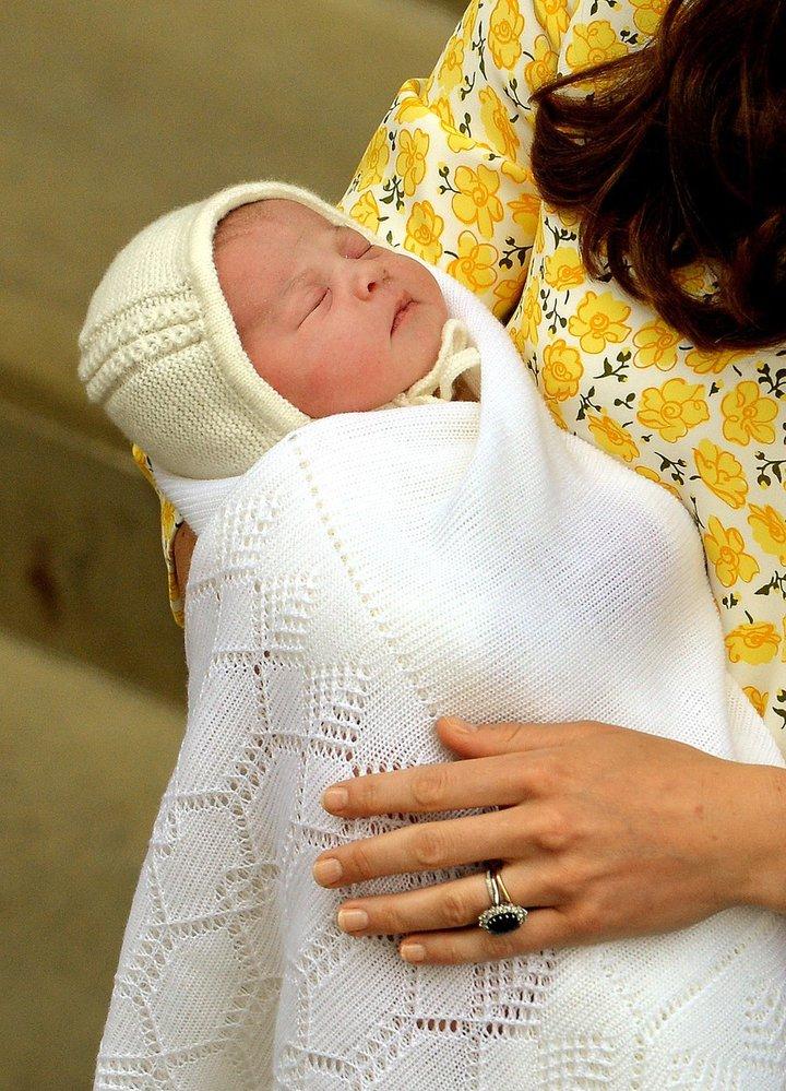 Princezna Charlotte Elizabeth Diana krátce po narození