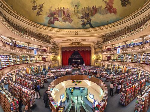 Knihkupectví El Ateneo Grand Splendid má divadelní atmosféru