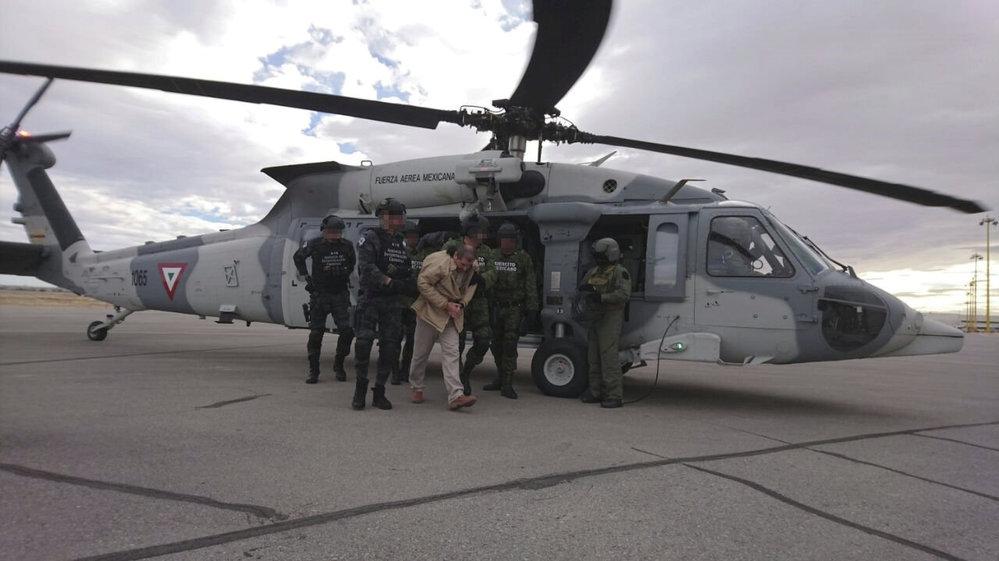Převoz Joaquina Guzmána do USA