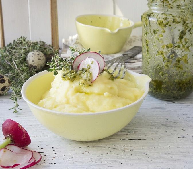 Zeleninové pyré s bylinkovým pestem
