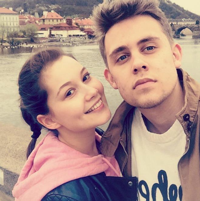 Vincent se svou přítelkyní Sabinou