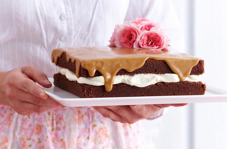 Dort s vanilkou a karamelovým krémem