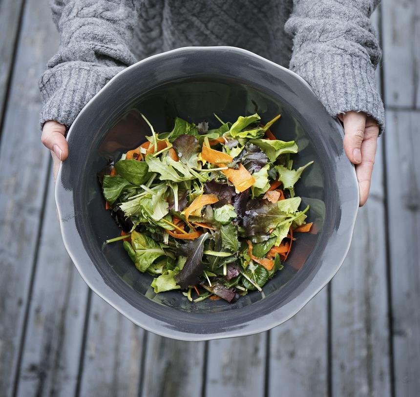 Listový salát s mrkví