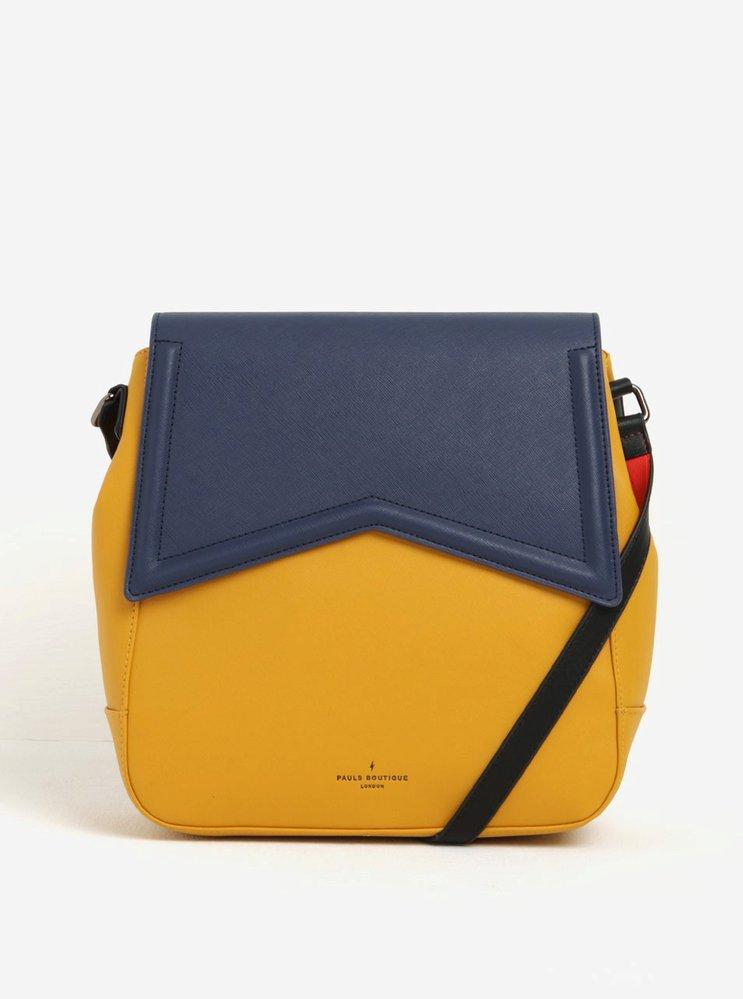 Žluto-modrá kabelkabatoh 2v1 s červenými detaily, Paul's Boutique, 2969 Kč, koupíte na: zoot.cz