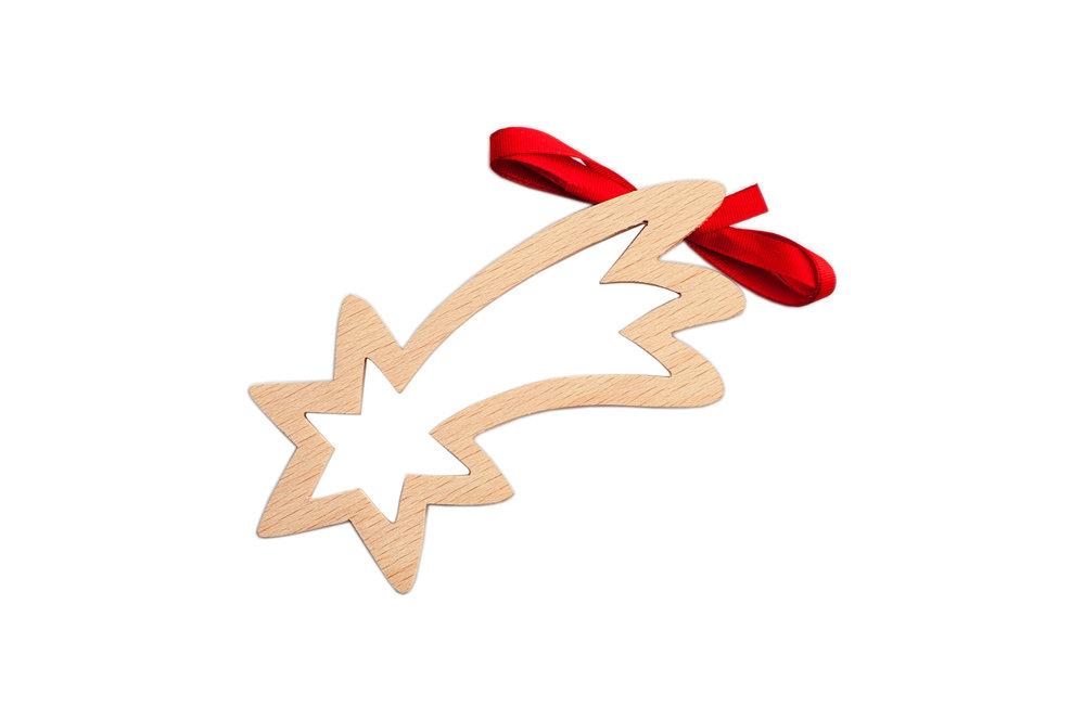 Dřevěná betlémská hvězda, cena: 40 Kč