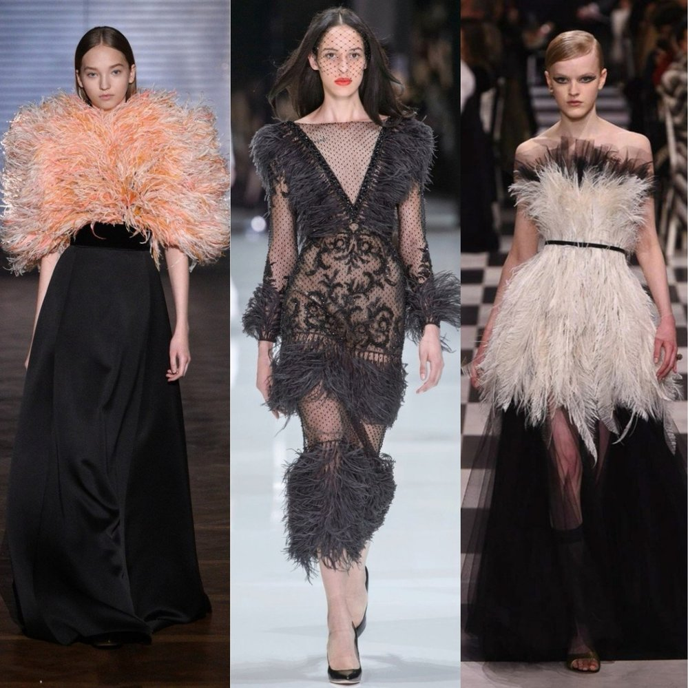 Zleva: Givenchy, Ralph & Russo, Dior