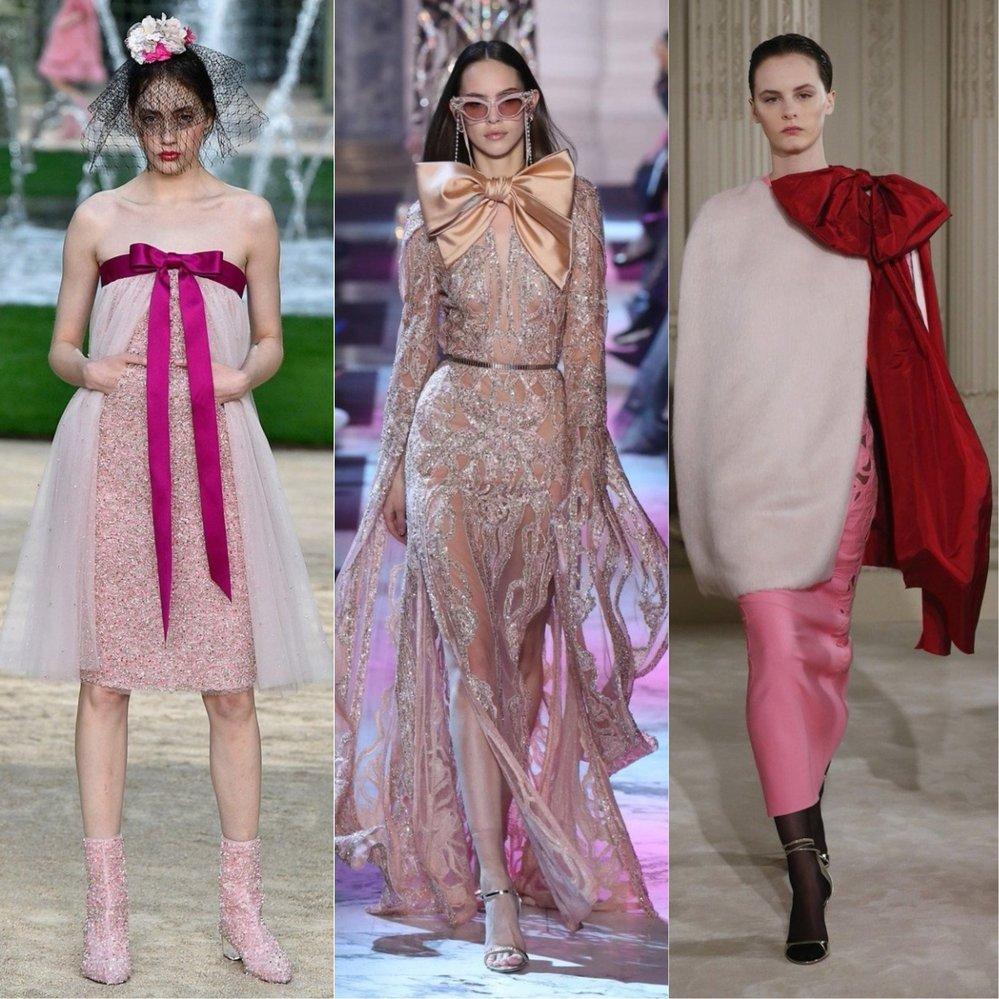 Zleva: Chanel, Elie Saab, Valentino