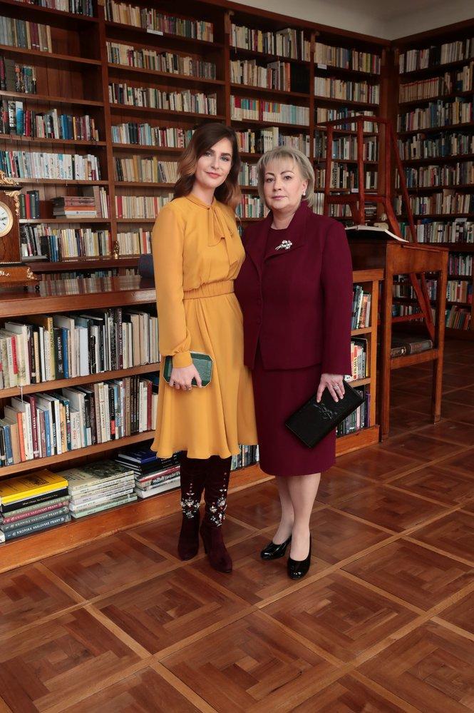 8. 3. 2018: Ivana Zemanová, manželka Miloše Zemana, s dcerou Kateřinou během inaugurace (8. 3. 2018)