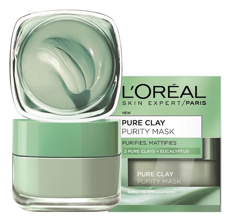 Čisticí zmatňující maska Pure Clay, L'Oréal Paris, 279 Kč/50 ml
