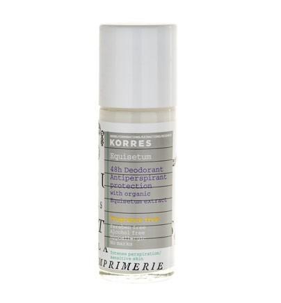 48 hodinový antiperspirant bez parfemace, Korres, vemzu.cz, 290 Kč/30 ml