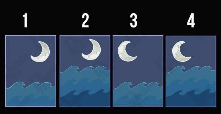 Měsíc a vlny. Který obrázek oslovuje vás?