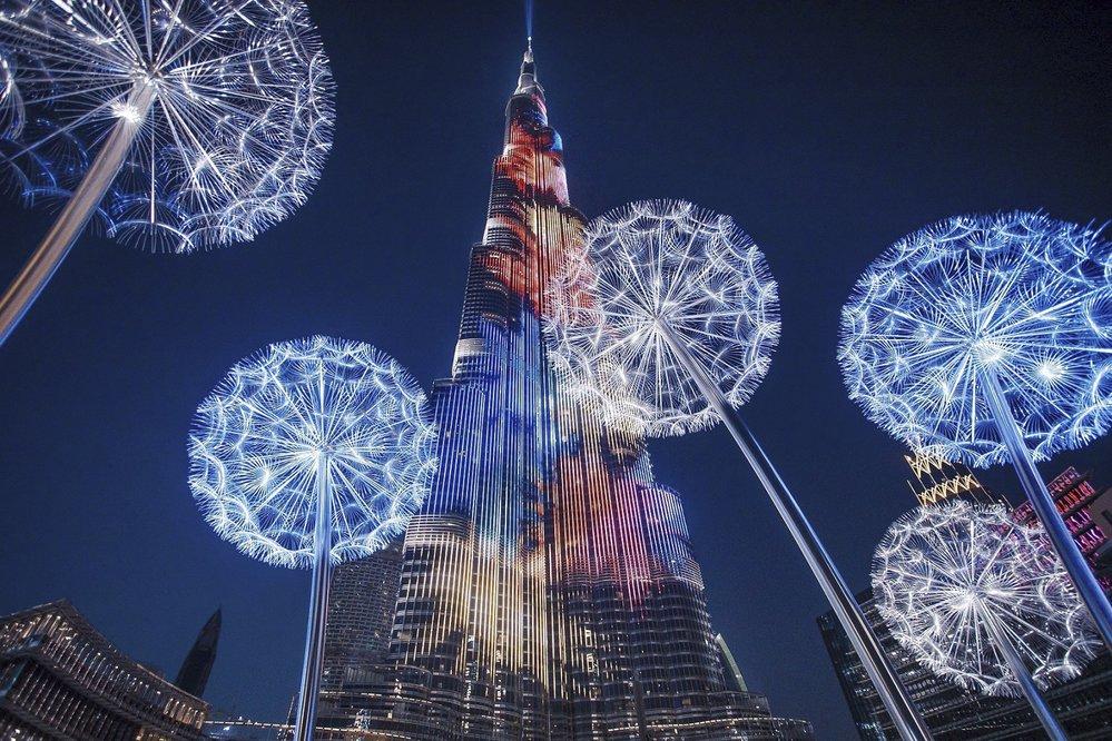 Ohňostroj v Dubaji