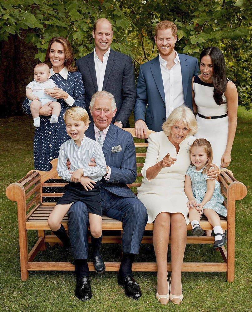 Nejnovější rodinný portrét královské rodiny