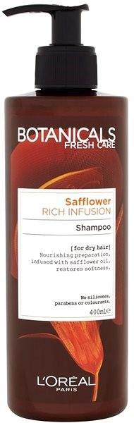 Přírodní hydratující šampon, Botanicals Fresh Care Carthmae Rich Infusion, ĽORÉAL PARIS, 139 Kč/400 ml