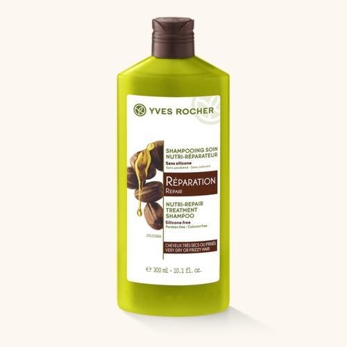 Regenerační šampon na poškozené vlasy, Yves Rocher, 109 Kč/300 ml