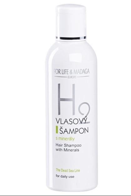 Vlasový šampon s minerály, H2, For Life and Madaga, forlifemadaga.com, 194 Kč/200 ml