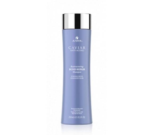 Obnovující šampon pro poškozené vlasy, Caviar Restructuring Bond Reapair Shampoo, Alterna, 890 Kč/250 ml