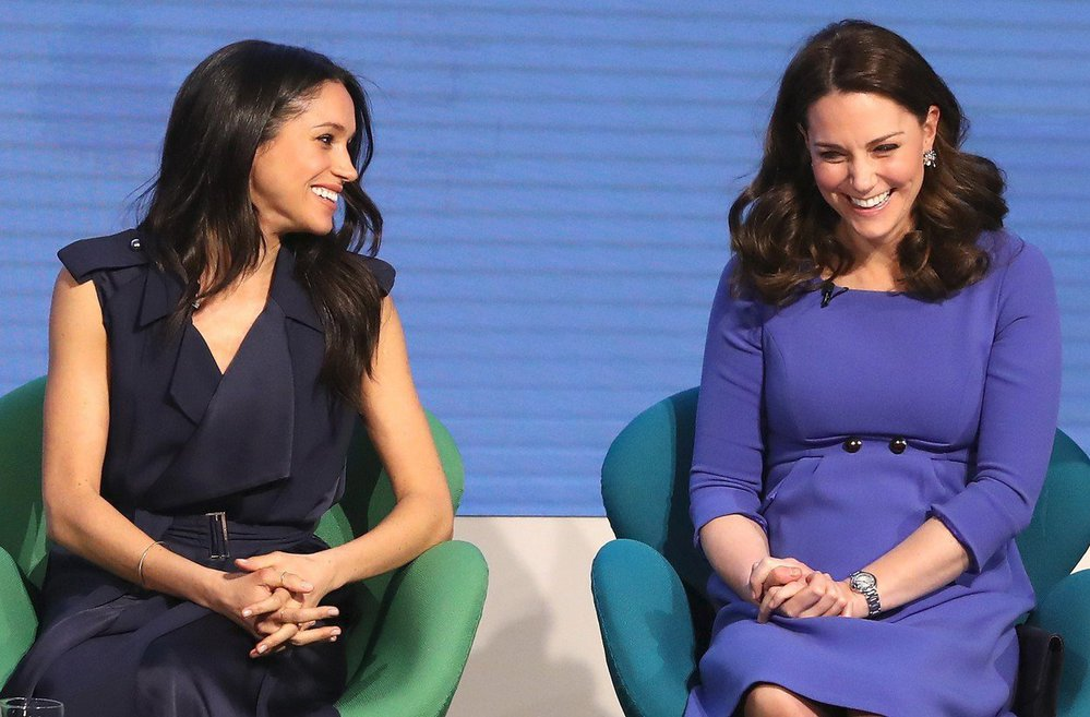 Kate a Meghan na Royal Foundation Forum, únor 2018