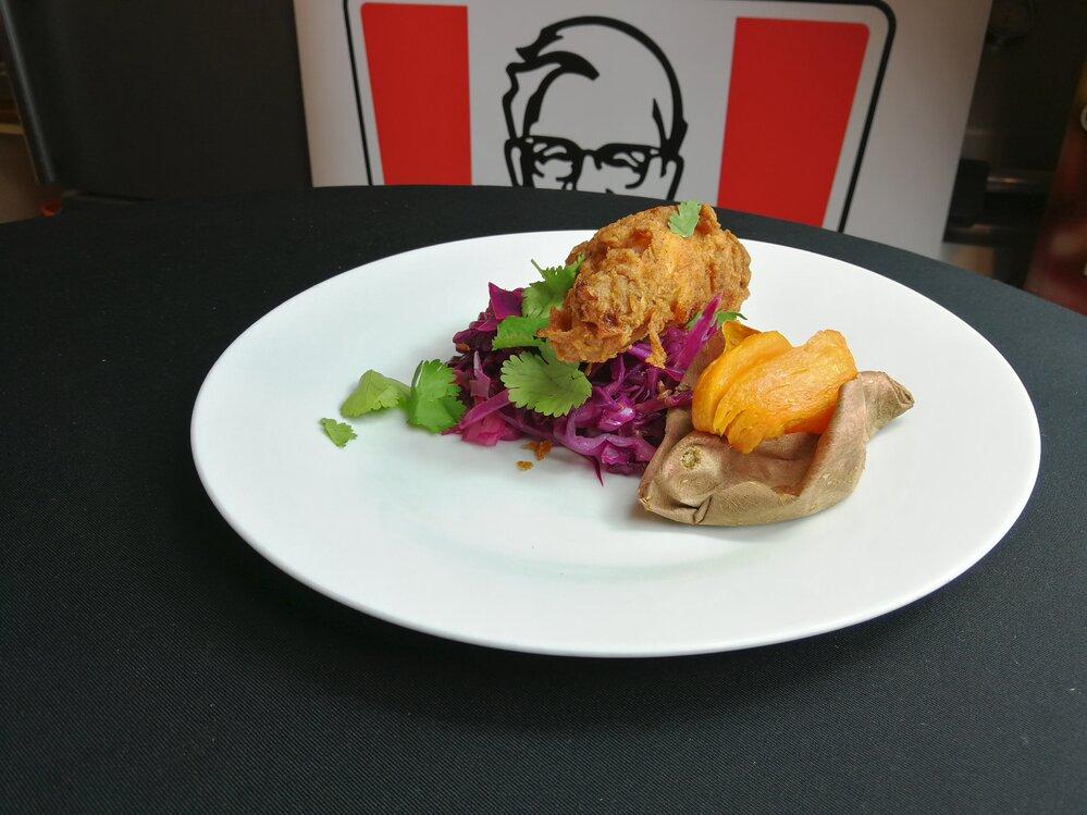 Smažené kuře se sladkými batáty