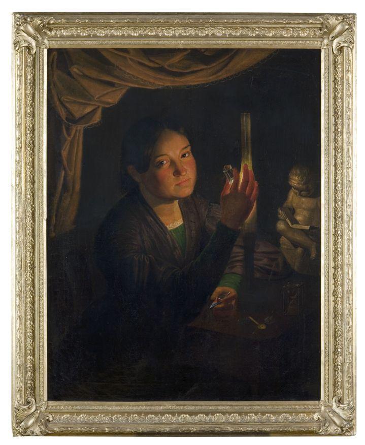 Portrét Bohuslavy Rajské, která byla ve své době považovaná za nejvzdělanější dívku v Praze, ze sbírek Národního muzea