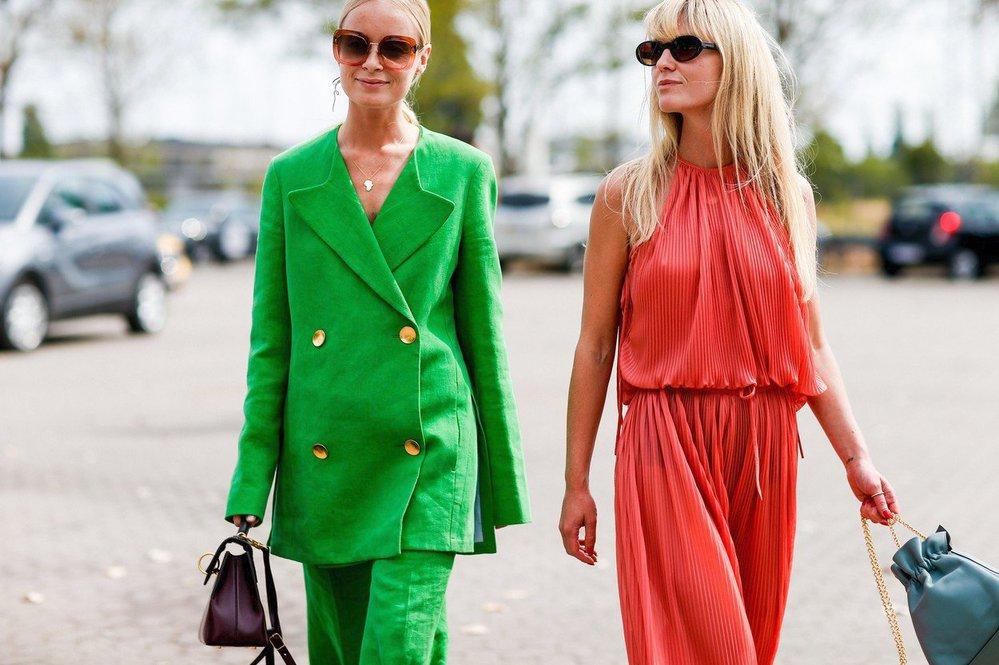 Thora Valdimars a Jeanette Madsen na kodaňském fashion weeku