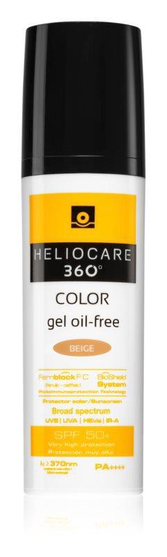 Ochranný tónovaný gel Heliocare 360° SPF50+, odstín beige, Heliocare, 649 Kč/50 ml