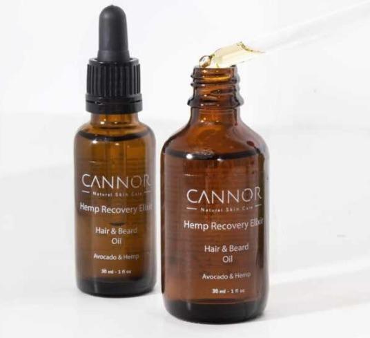 Výživný a zklidňující olej na vlasy a vousy, Cannor, prodává cannor.cz, 399 Kč/30 ml