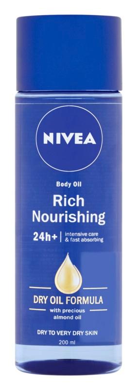 Výživný tělový olej Rich Nourishing, Nivea, 139 Kč/200 ml