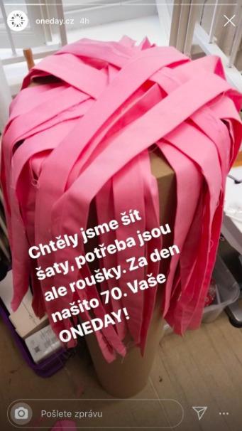 Česká značka One Day se přidala k šití roušek