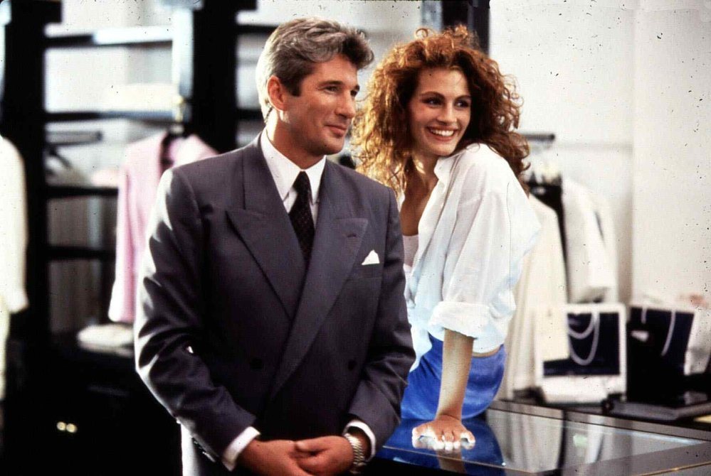 Richard Gere a Julia Roberts ve filmu Pretty Woman