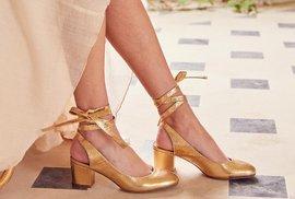 Nejkrásnější metalické sandálky na svatbu, do města i na pláž